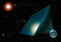 우주태양광발전은 미래 에너지 프로젝트로 각광받고 있지만 채산성과 안정성이라는 선결과제가 놓여 있다. 사진은 우주태양광발전 개념도.