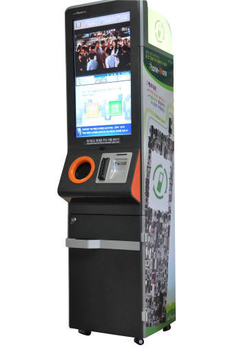 에코세이브가 개발한 무인 자동회수장치 에코로봇 폰모아.