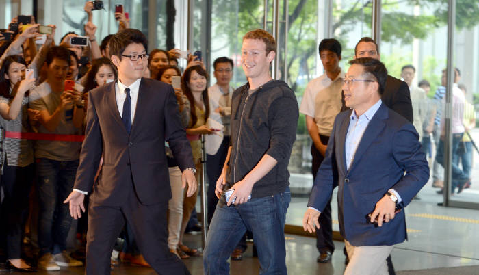 마크 저커버그 페이스북 CEO 삼성전자 방문