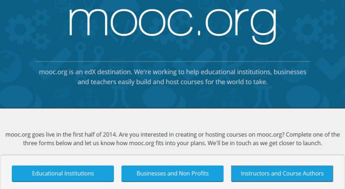 구글이 에덱스(edX)와 함께 내년에 정식 개설할 온라인 교육 사이트 MOOC.org. 현재 사이트 소개와 등록 신청을 받는다.