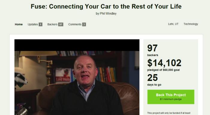 킥스타터 홈페이지의 동영상에서 벤처 노장 필 윈들리가 `퓨즈(Fuse)` 서비스를 소개하고 있다.