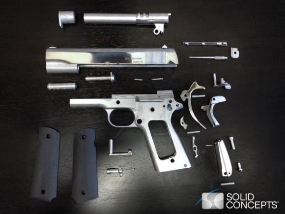 3D 프린터, 진짜 금속 권총도 만든다