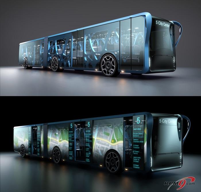 LCD로 도배된 버스 등장, 새 역할에 관심 - 전자신문