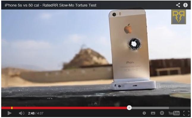 이 귀한 골드 아이폰을! 이젠 '총격' 테스트