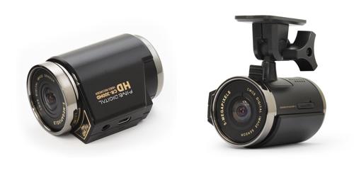 ▲ 파인뷰의 CR-300HD. 휴대용 외장 배터리팩을 달아 익스트림 스포츠용으로 활용할 수 있는 블랙박스다.