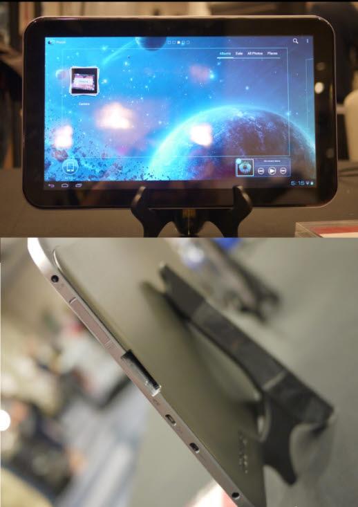 도시바의 13.3인치 익사이트. 스크린 앞면은 고릴라 글래스를 채택했다. (사진 출처 : www.slashgear.com)
