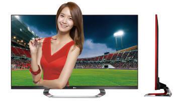 소녀시대 윤아를 모델로 하는 LG전자 3D 스마트TV `LM7600`모델