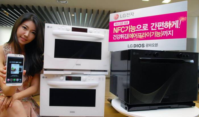 LG전자, 스마트폰으로 요리하는 NFC 광파오븐 출시