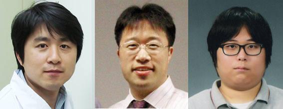 왼쪽부터 김원종 포스텍 교수, 이해신 KAIST 교수, 김지훈 IBS 연구원.