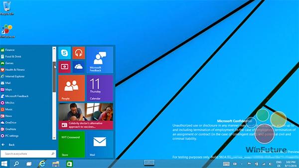 9월 30일 윈도우 9 발표, 태블릿 모드 쓰지 않아도 된다
