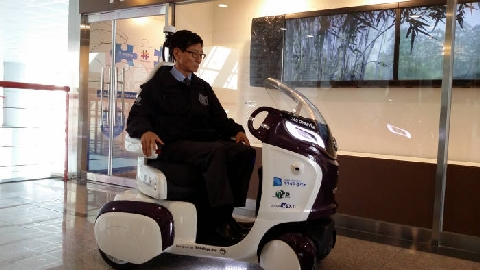 AICT developed Korea's first one-seater autonomous vehicle