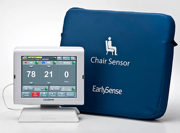 EarlySense' non-contact sensor product for a chair/ photograph=EarlySense