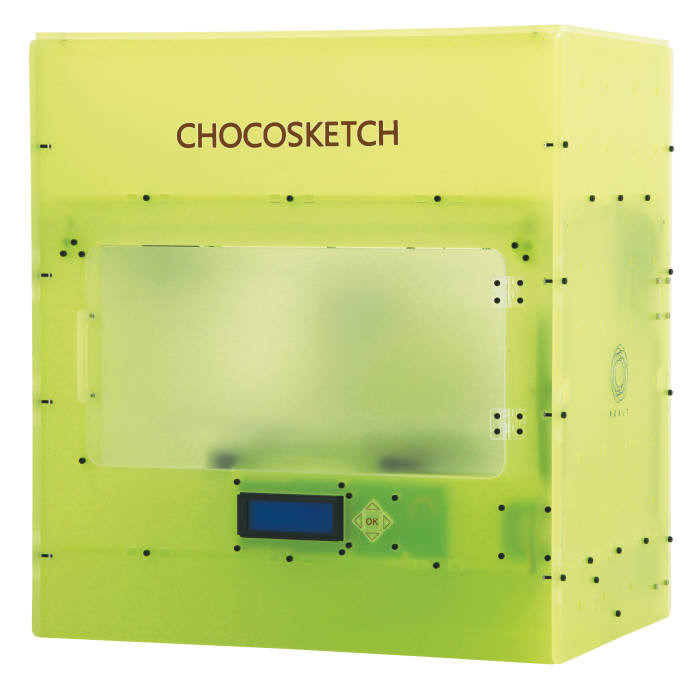 Rokit's 3D printer 'Choco Sketch' that can make various shapes of chocolate