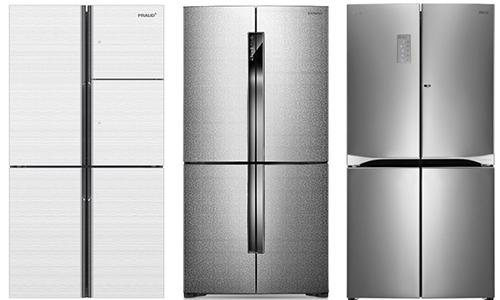 ▲900L급 냉장고 제품. 대유위니아, 삼성전자, LG전자 순.