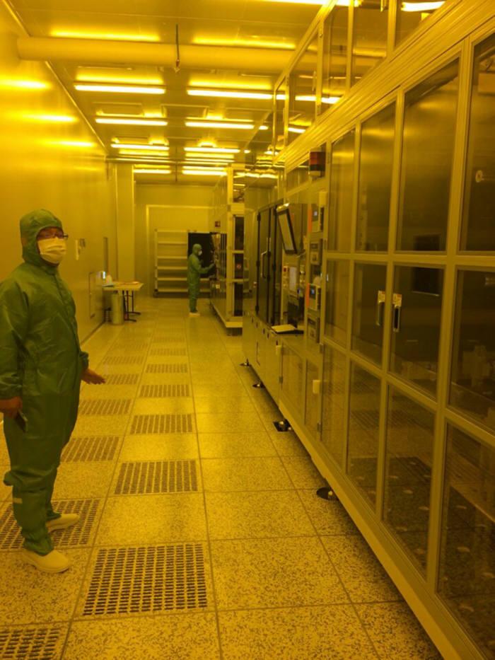 The Production Line of Metal Mesh Sensors at Kumho Electric, Inc.