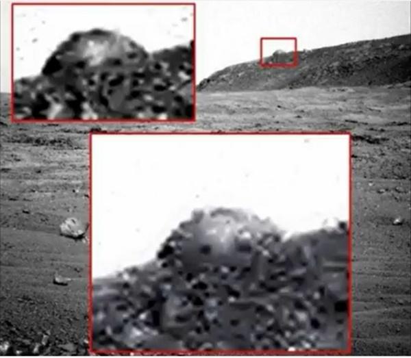 화성에서 발견된 돔형 구조물(?).사진=패러노멀월드 유튜브