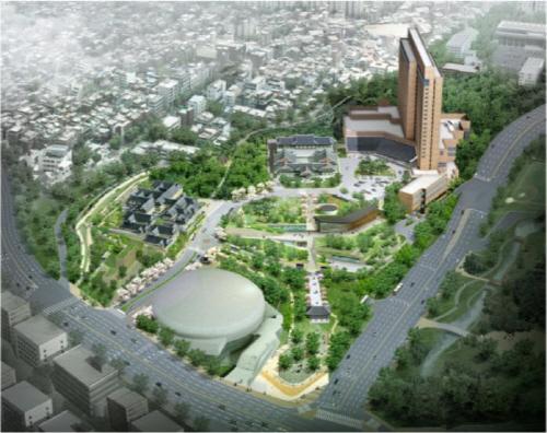 호텔신라 한국전통호텔 건축계획안