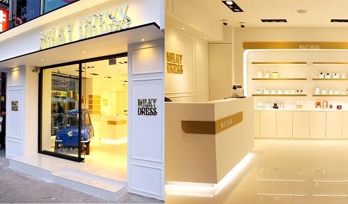 코스매틱 브랜드 '밀키드레스' 매장 강남 1호점 오픈