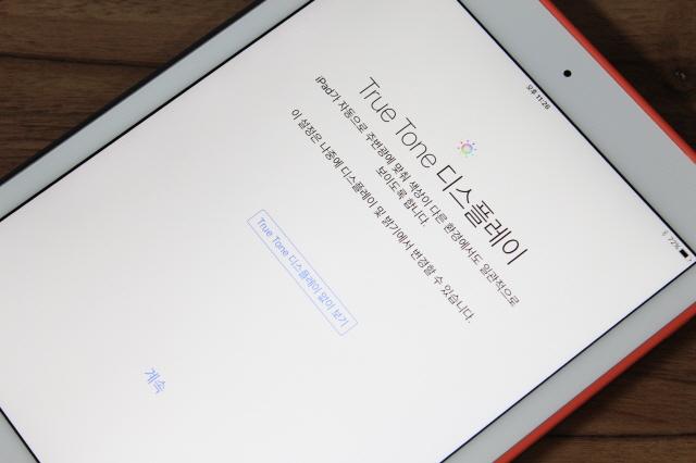애플 9.7인치 아이패드  프로에는 트루톤 디스플레이 기능이 추가됐다.
