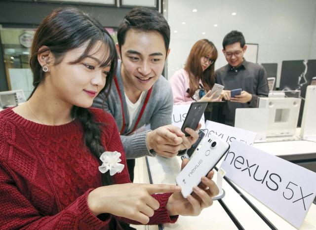 구글 레퍼런스 스마트폰 LG전자 넥서스5X (사진=LG전자)