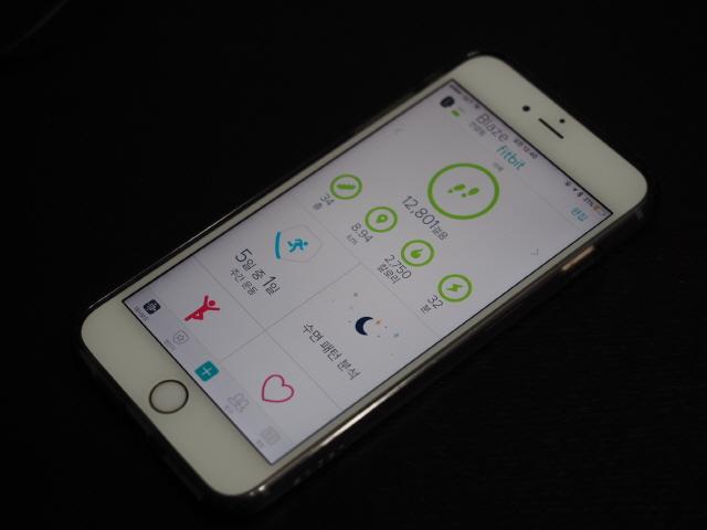 깔끔한 인터페이스를 갖춘 핏비트 애플리케이션