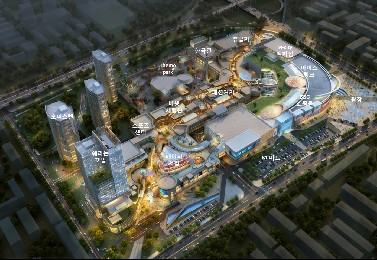 중국 후난성 창사시에 위치한 초대형 복합 쇼핑몰인 '메이시 신천지' 조감도