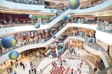 중국 후난성 창사시에 위치한 초대형 복합 쇼핑몰인 '메이시 신천지' 내부