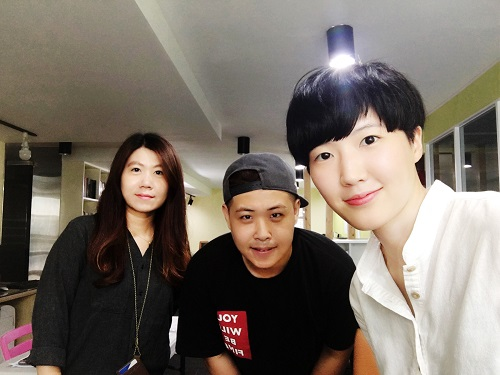 사진=왼쪽부터 Grace Kim(CS,홍보제휴담당 대리), Phillip Kim(개발자), Jean Son(대표)