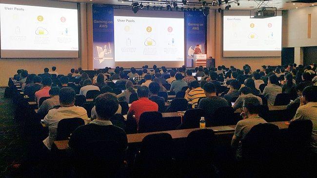 아마존웹서비스(AWS) 게임 개발자 컨퍼런스 'Gaming on AWS' 전경