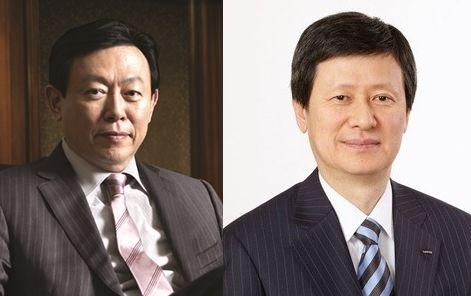 (왼쪽부터) 신동빈 롯데그룹 회장과 신동주 전 일본 롯데홀딩스 부회장. 사진=넥스트데일리 DB