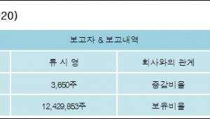 [유성기업 지분 변동] 류 시 영 외 8명 0.01%p 증가, 47.9% 보유
