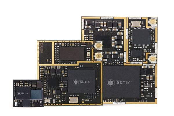 Samsung Electronics' IoT Development module called ARTIK 1, ARTIK 5, and ARTIK 10 series.  ARTIK 7 will be added to 2nd generation ARTIK platform.  ARTIK 0 series, which has an advantage of ultra-low electricity consumption, will also be released with variety of specifications.