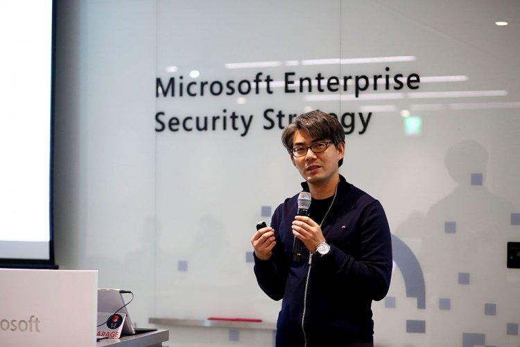 MS의 보안 전략을 설명하고 있는 한국MS의 조용대 상무