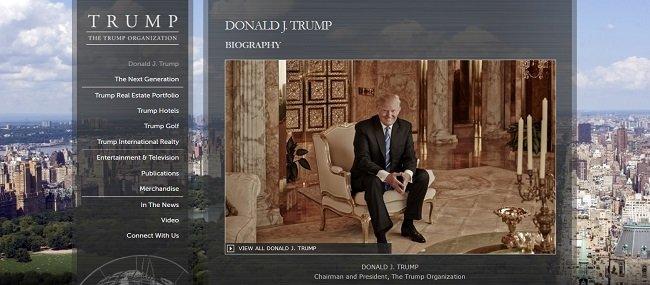 트럼프 그룹의 오너 사장으로서의 도널드 트럼프