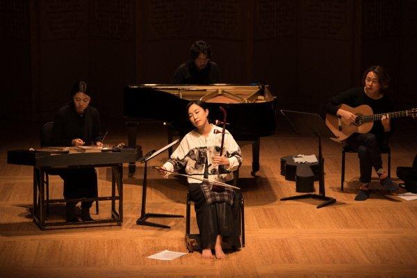 '꽃별의 고요의 시간' 공연사진. 사진=국립국악원 제공