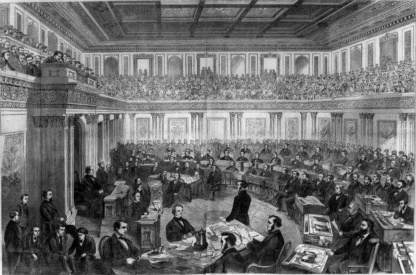 앤드루 존슨 17대 미국 대통령 탄핵 상원 재판, 1868년