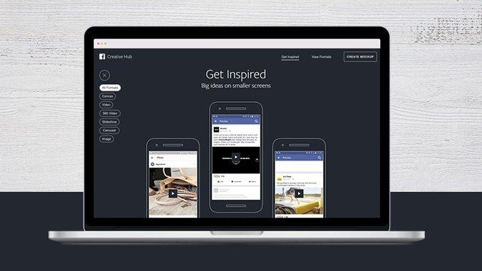페이스북의 모바일용 온라인 광고 제작 플랫폼인 '크리에이티브 허브(Creative Hub)'