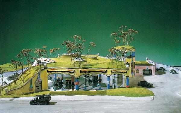 ARCH 62 덜 공격적인 주유소. 사진=2016 Hundertwasser Archive, Vienna