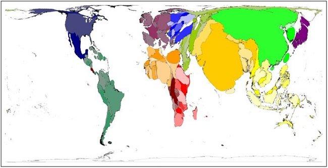화면 4. 지도가 목적에 따라 현실공간을 왜곡한 경우에 지도가 아니라고 말할 자신은 없다.