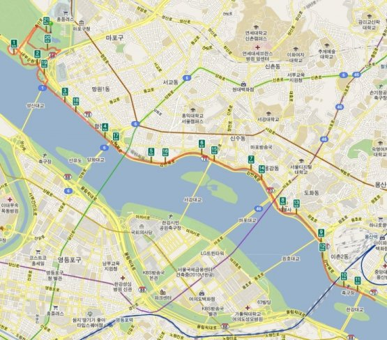 서울신문 마라톤 대회 하프 코스