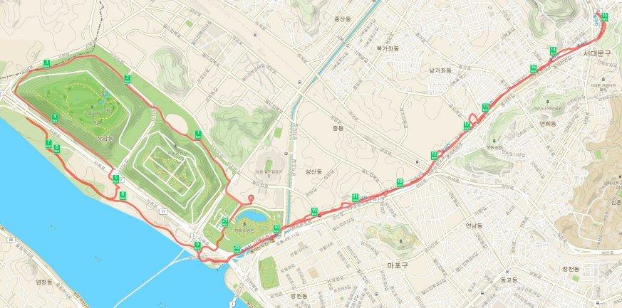 스포츠 서울 마라톤 대회 하프 코스