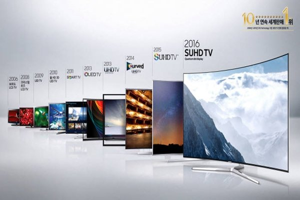Transition of Samsung Electronics' trademark on its TVs from 2006 to 2016 (Provided by Samsung Electronics)