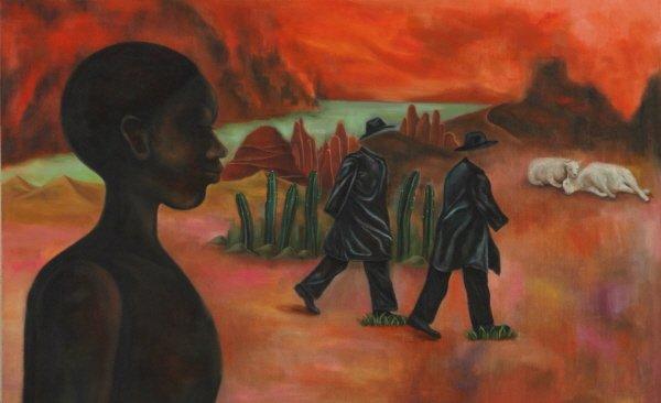 실낙원Ⅰ, oil on canvas, 130.0×80.3, 2016. 사진=강맑음 제공
