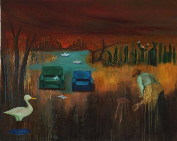 실낙원Ⅱ, oil on canvas, 90.9×72.1, 2016. 사진=강맑음 제공