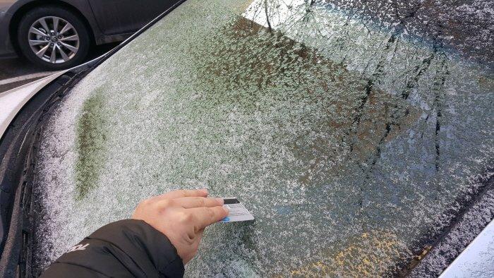 겨울철 운전 골칫거리 '성에' 초간단 제거법은?