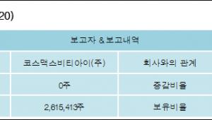 [로봇뉴스][코스맥스 지분 변동] 코스맥스비티아이(주) 외 4명 26.03% 보유