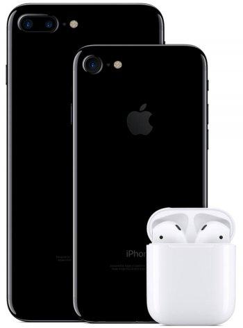 애플 아이폰7 시리즈와 에어팟.