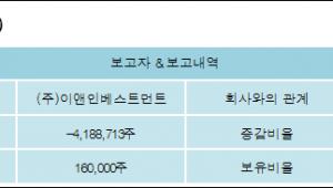 [로봇뉴스][정다운 지분 변동] (주)이앤인베스트먼트 외 2명 -21.26%p 감소, 0.8% 보유