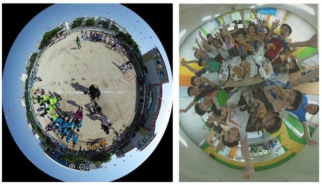 필자가 찍은 운동회 사진, 학생과 피자 먹는 사진