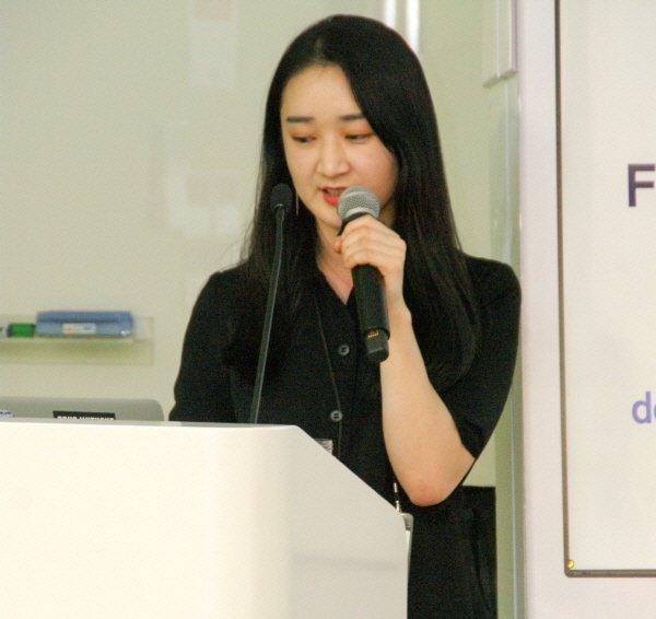 """[포토] 황조은 스포카 매니저 """"도도포인트, 역O2O 방식 통해 오프라인 개선"""""""